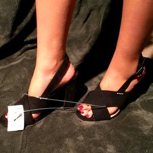 Who What Wear Women Satin Heels Black Size 7.5